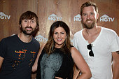 Dave Haywood Hillary Scott and Charles Kelley of Lady Antebellum appear at the HGTV Lodge during CMA Music Fest on June 12 2015 in Nashville Tennessee