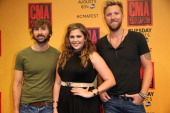 Dave Haywood Hillary Scott and Charles Kelley of Lady Antebellum attend the 2014 CMA Festival on June 8 2014 in Nashville Tennessee