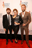 Dave Haywood Hillary Scott and Charles Kelley of Lady Antebellum attend the 36th annual Georgia Music Hall of Fame Awards at the Georgia World...