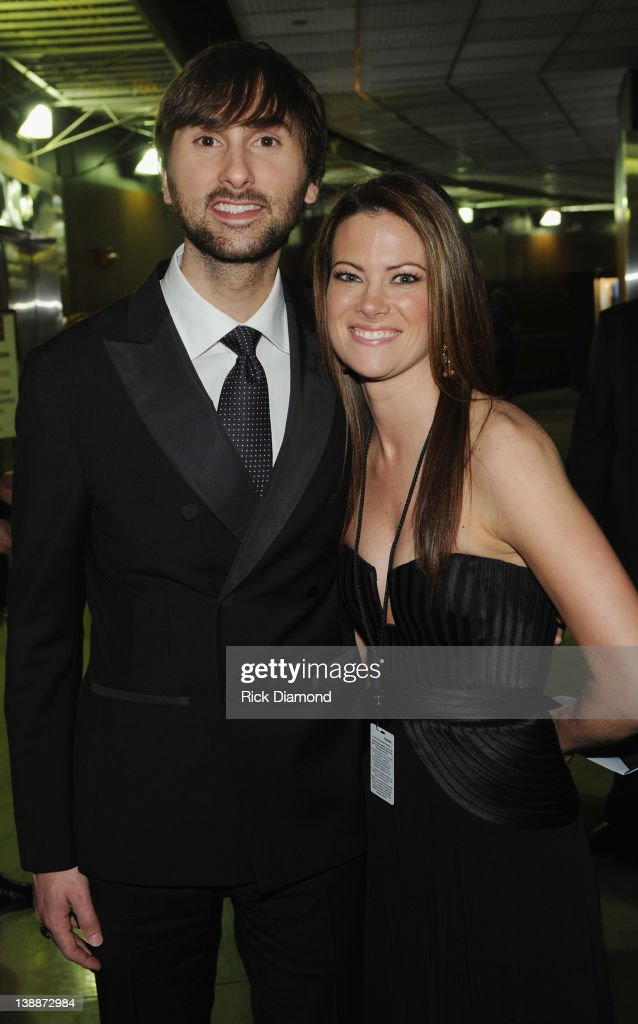 Dave Haywood of Lady Antebullem and Girlfriend Kelli Cashiola attend The 54th Annual GRAMMY Awards - Backstage at Staples Center on February 12, 2012 in Los Angeles, California.