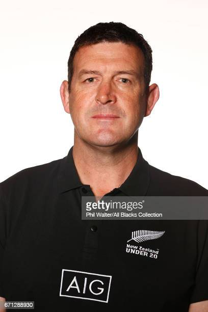Dave Hewett poses during the New Zealand U20 Headshots Session at Novotel Auckland Airport on April 22 2017 in Auckland New Zealand