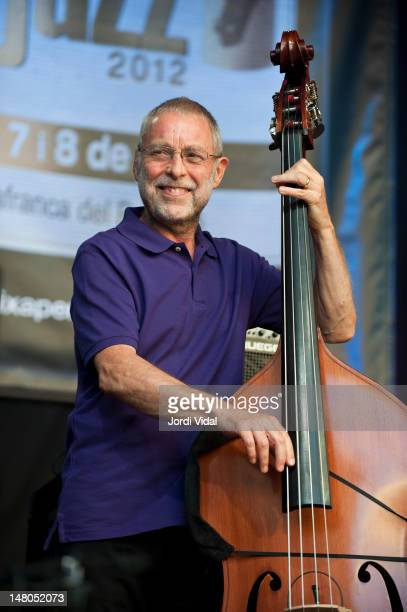 Dave Holland of Prism performs on stage during Vijazz Festival at Placa Jaume I on July 8 2012 in Vilafranca del Penedes Spain