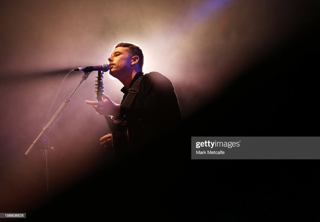 Dave Hosking of Boy and Bear performs live on stage at The Falls Music and Arts Festival on December 30, 2012 in Lorne, Australia.