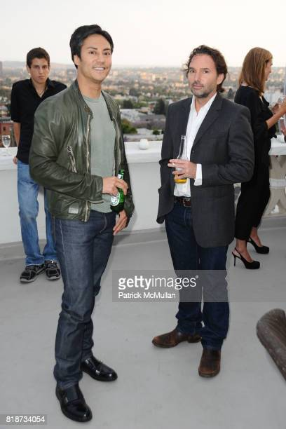 Dave Kalstein and Steve Burtch attend Bret Easton Ellis to celebrate the publication of his new novel IMPERIAL BEDROOMS at Penthouse on June 10 2010...