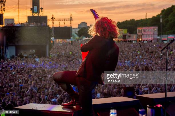 Dave Keuning of The Killers performs on Day 5 of Barclaycard presents British Summer Time in Hyde Park on July 8 2017 in London England