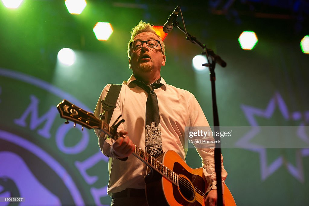 Dave King of Flogging Molly performs on stage at Aragon Ballroom on January 26, 2013 in Chicago, Illinois.