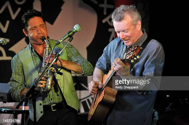 Dave Koz and Peter White perform on stage at Pizza Express Jazz Club on June 4 2012 in London United Kingdom