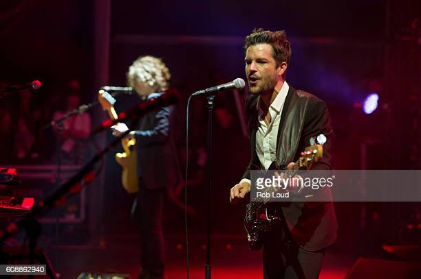 Dave Kreuning and Brandon Flowers of The Killers perform on September 16 2016 in Toronto Canada