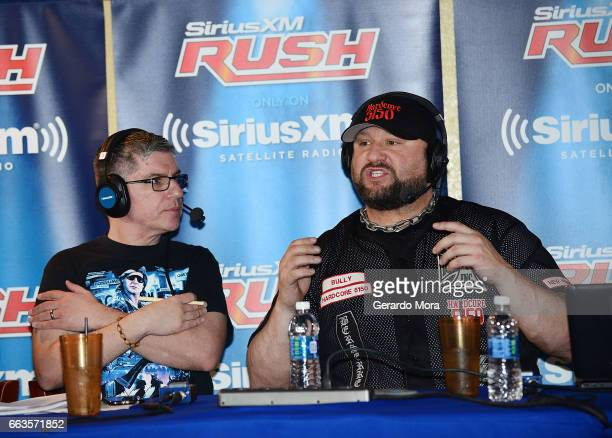 Dave LaGreca and Wrestler Bully Ray speak during SiriusXM's Busted Open Live From WrestleMania 33on April 1 2017 in Orlando City