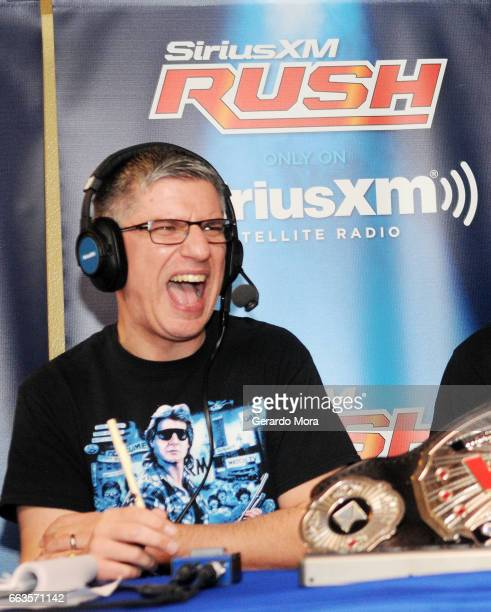 Dave LaGreca interacts with the audience during the SiriusXM's Busted Open Live From WrestleMania 33on April 1 2017 in Orlando City
