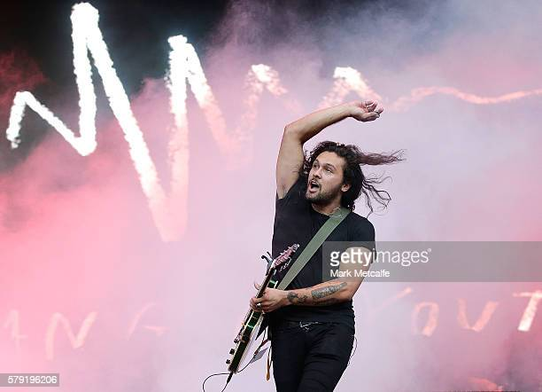 Dave Le'aupepe of Gang Of Youths performs during Splendour in the Grass 2016 on July 23 2016 in Byron Bay Australia