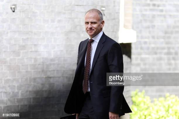 Dave Lewis chief executive officer of Tesco Plc arrives in Downing Street for a business advisory group meeting in London UK on Thursday July 20 2017...