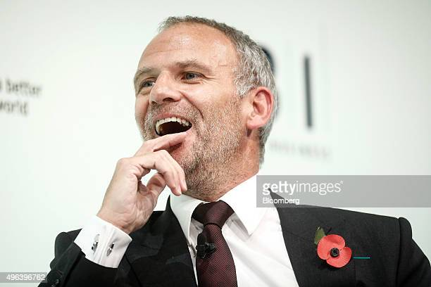 Dave Lewis chief executive officer of Tesco Plc reacts during the Confederation of British Industry's annual conference in London UK on Monday Nov 9...