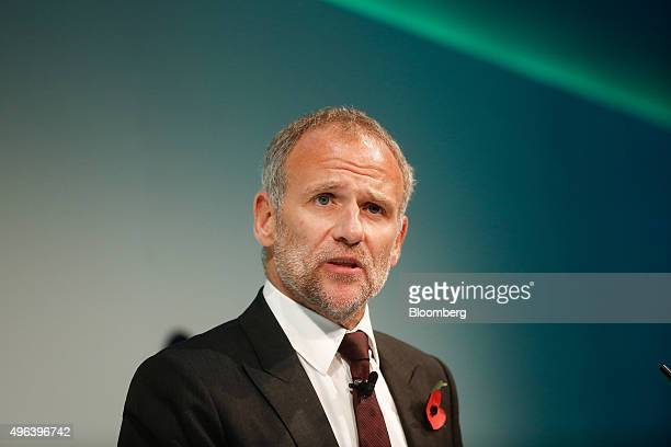 Dave Lewis chief executive officer of Tesco Plc speaks during the Confederation of British Industry's annual conference in London UK on Monday Nov 9...