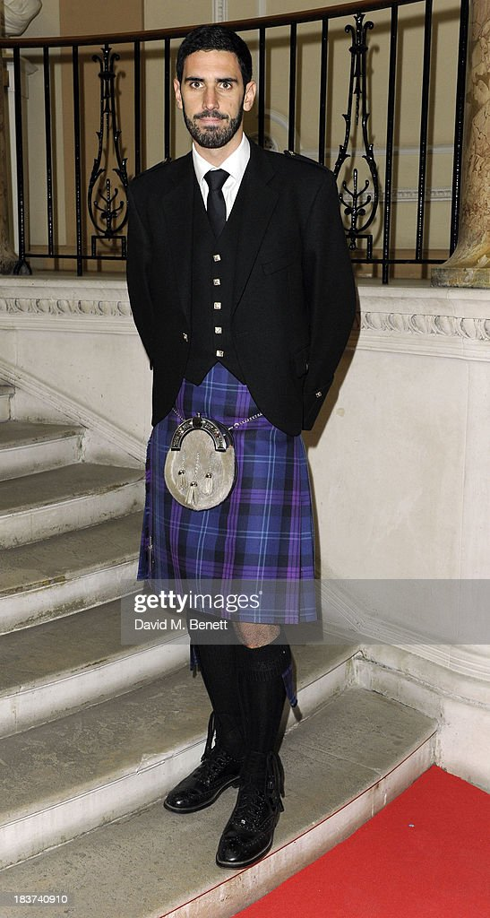 Dave Lochhead arrives at the Scottish Fashion Invasion of London at the 8th Annual Scottish Fashion Awards 2013 at Dover House on October 9, 2013 in London, England.