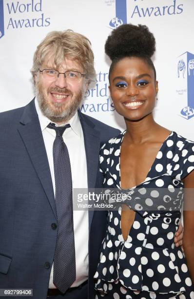Dave Malloy and Denee Benton attend the 73rd Annual Theatre World Awards at The Imperial Theatre on June 5 2017 in New York City