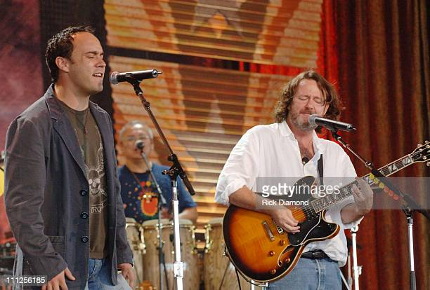 Dave Matthews and John Bell of Widespread Panic during FARM AID 2005 Presented by SILK Soymilk at Tweeter Center in Tinley Park Illinois United States