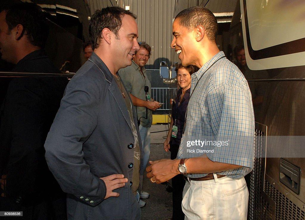 Dave Matthews and Senator Barack Obama