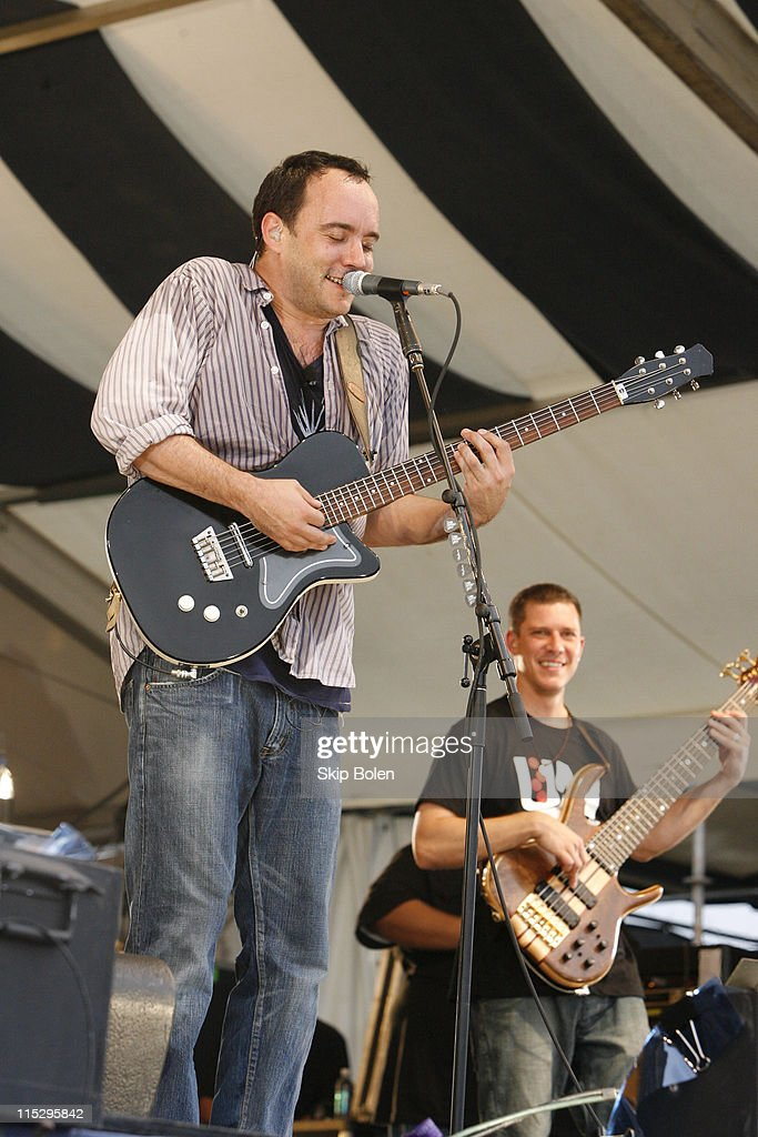 Dave Matthews and Stefan Lessard of Dave Matthews Band at JazzFest