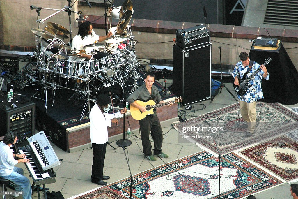 Dave Matthews Band during Dave Matthews Band Performs on the Roof of the Ed Sullivan Theatre for The Late Show with David Letterman - July 15, 2006 at Ed Sullivan Theatre in New York City, New York, United States.