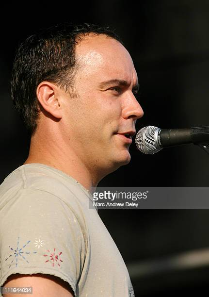 Dave Matthews during Dave Matthews Band and Sheryl Crow in Concert at Boston's Fenway Park July 7 2006 at Fenway Park in Boston Massachusetts United...