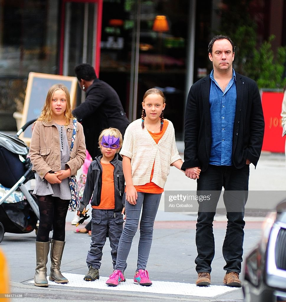 Dave Matthews, Grace Anne Matthews, Stella Busina Matthews and August Oliver Matthews are seen in Tribeca on October 15, 2012 in New York City.