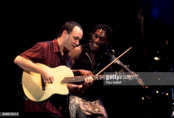 Dave Matthews left and Boyd Tinsley of the Dave Matthews Band at the Poplar Creek Music Theater in Hoffman Estates Illinois July 30 2000