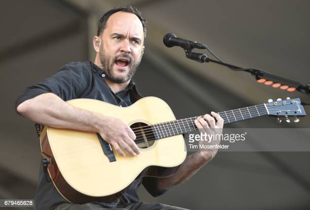 Dave Matthews of Dave Matthews and Tim Reynolds performs during the 2017 New Orleans Jazz Heritage Festival at Fair Grounds Race Course on May 5 2017...