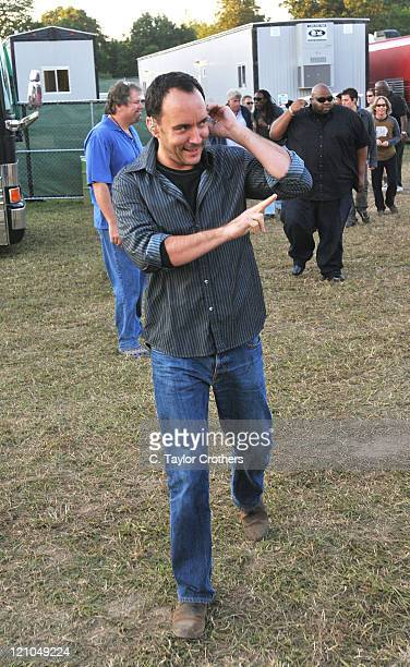 Dave Matthews of Dave Matthews Band backstage at The Odeum during Rothbury 2008 on July 5 2008 in Rothbury Michigan