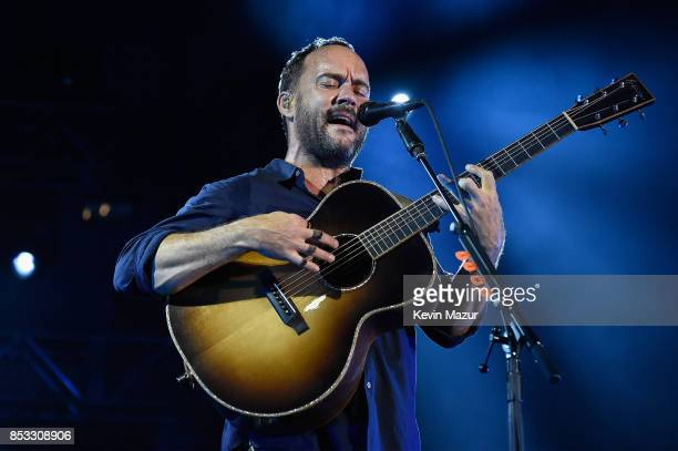 Dave Matthews of Dave Matthews Band performs at 'A Concert for Charlottesville' at University of Virginia's Scott Stadium on September 24 2017 in...