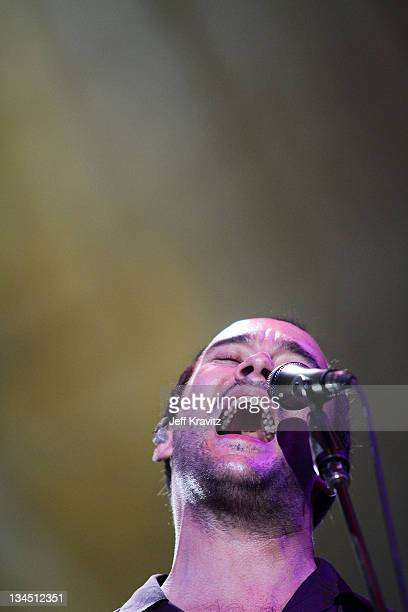 Dave Matthews of the Dave Matthews Band performs during day two of Dave Matthews Band Caravan at Bader Field on June 25 2011 in Atlantic City New...