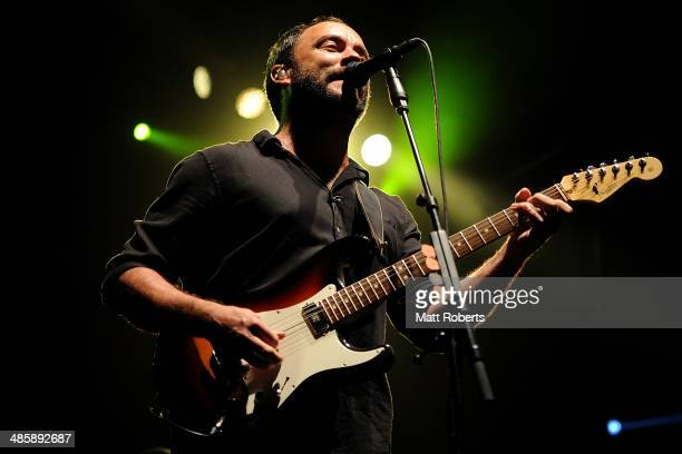 Dave Matthews of the Dave Matthews Band performs live for fans at the 2014 Byron Bay Bluesfest on April 21 2014 in Byron Bay Australia