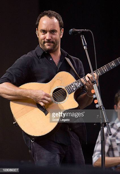 Dave Matthews of the Dave Matthews Band performs the 2010 Hullabalou Music Festival at Churchill Downs on July 25 2010 in Louisville Kentucky