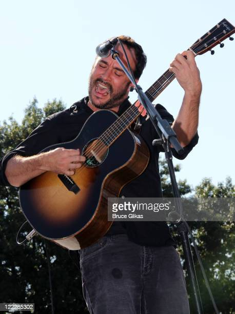 Dave Matthews performs at the 2011 World Police and Fire Games at Prospect Park on August 26 2011 in New York City