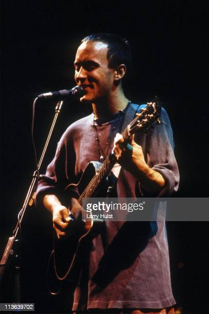 Dave Matthews performs at the Moby Gym in Fort Collins Colorado on April 30 1995