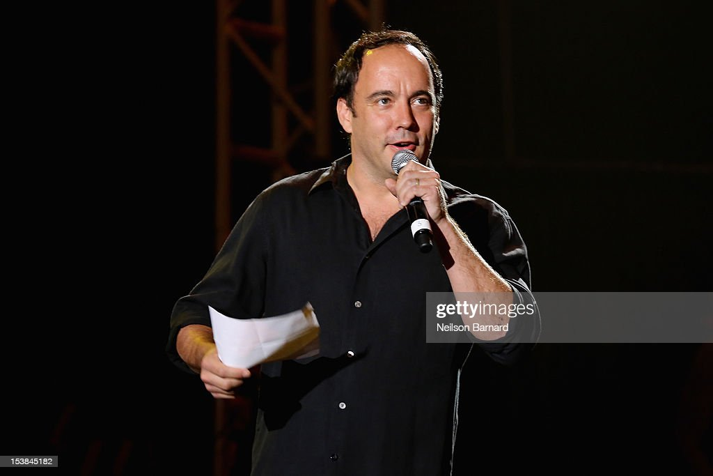 Dave Matthews speaks onstage at the One World Concert at Syracuse University on October 9 2012 in Syracuse New York