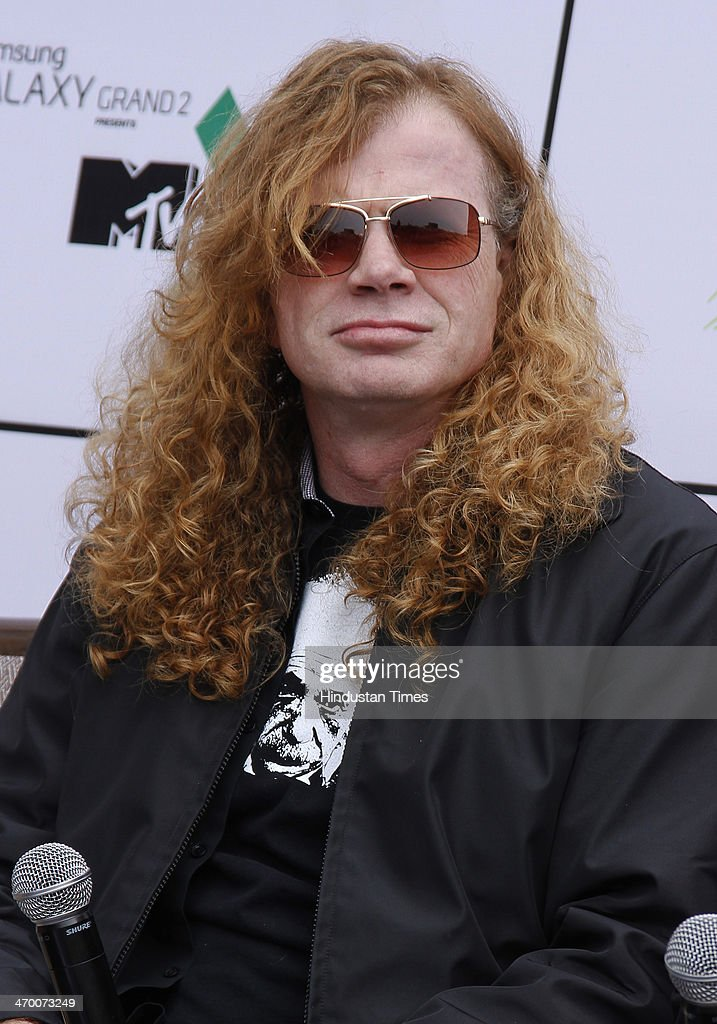 Dave Mustaine, founding guitarist/vocalist of the American thrash metal band Megadeth during an exclusive interview with Hindustan Times on February 15, 2014 at Hotel Crown Plaza in Greater Noida, India.