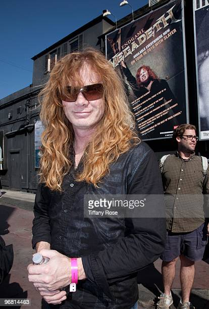 Dave Mustaine of Megadeth attends the 2nd Annual Golden Gods Awards Nominees and Press Conference at The Rainbow Bar and Grill on February 17 2010 in...