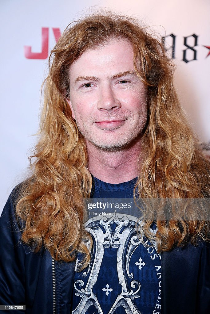 Dave Mustaine of Megadeth attends the launch of Scott Weiland's clothing line 'Weiland For English Laundry' at The Roxy Theatre on September 9, 2009 in West Hollywood, California.