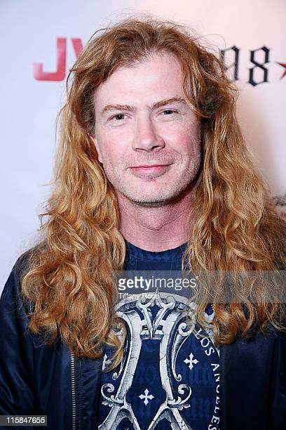 Dave Mustaine of Megadeth attends the launch of Scott Weiland's clothing line 'Weiland For English Laundry' at The Roxy Theatre on September 9 2009...