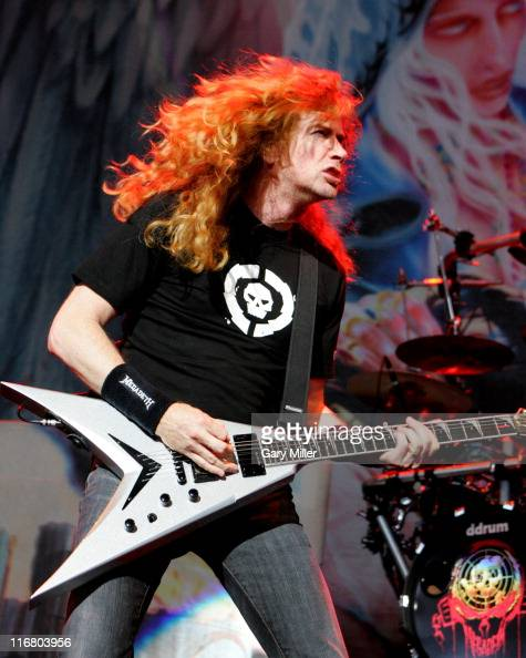 Dave Mustaine of Megadeth during Heaven and Hell Tour 2007 at the Verizon Wireless Amphitheater in San Antonio May 1 2007 at Verizon Wireless...