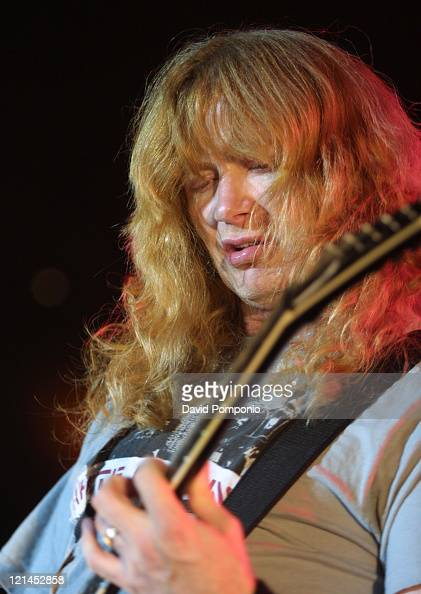 Dave Mustaine of Megadeth during Megadeth In Concert November 10 2004 at Roseland Ballroom in New York City New York United States