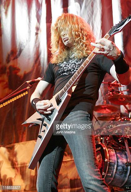 Dave Mustaine of Megadeth during Megadeth Performs at the HP Pavilion in San Jose April 24 2007 at HP Pavilion in San Jose California United States
