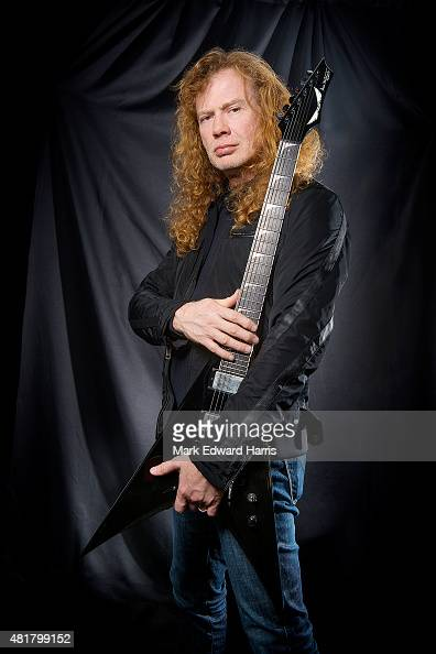 Dave Mustaine of 'Megadeth' is photographed at the Quebec Music Festival in Quebec City for Self Assignment on July 16 2015