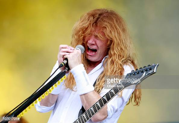 Dave Mustaine of Megadeth performs at day 2 of the Download Festival at Donington Park on June 12 2010 in Castle Donington England