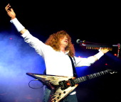 Dave Mustaine of Megadeth performs at Manchester Academy on June 5 2013 in Manchester England