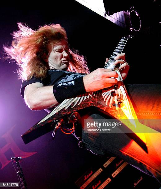 Dave Mustaine of Megadeth performs at Manchester Apollo on February 17th 2009 in Manchester England