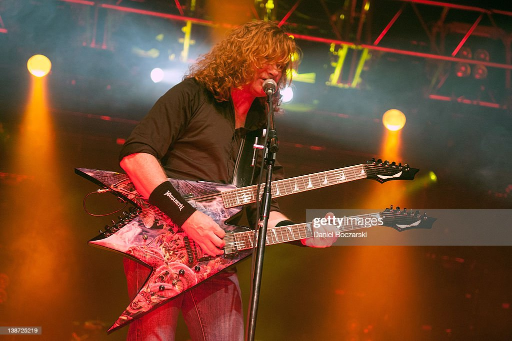 Dave Mustaine of Megadeth performs at the Aragon Ballroom on February 10, 2012 in Chicago, Illinois.