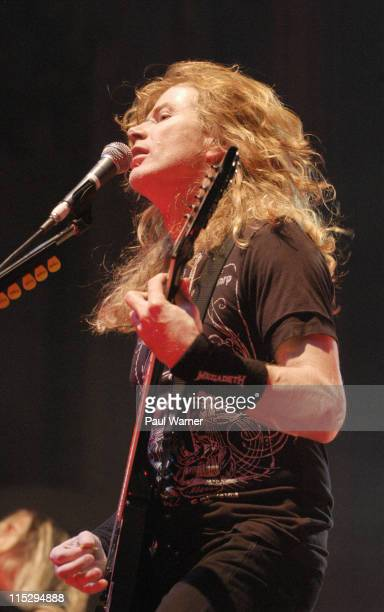 Dave Mustaine of Megadeth performs during Gigantour 2008 at the Aragon Ballroom on May 6 2008 in Chicago Illinois