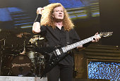 Dave Mustaine of Megadeth performs in support of the band's 'Dystopia' release at The Warfield Theater on February 29 2016 in San Francisco California